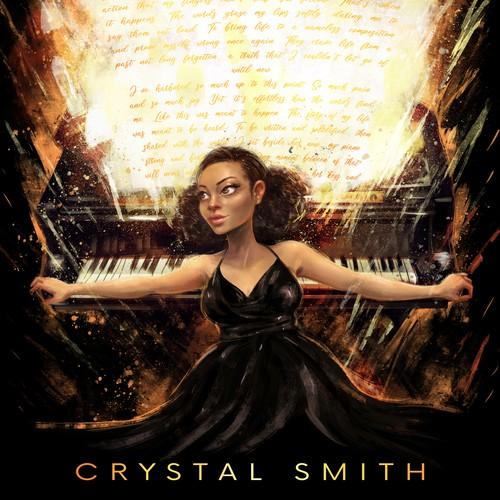 Crystal Smith - album tee design