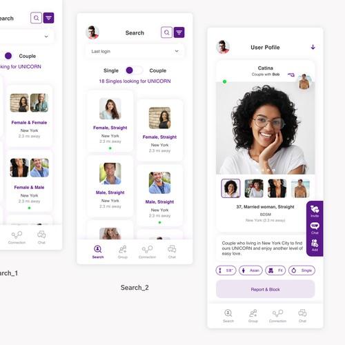 Dating App Design
