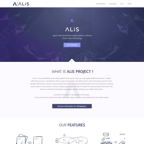 Alis Web page design