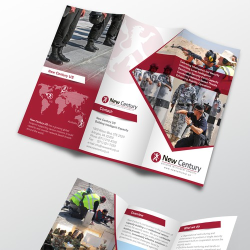 Brochure for a US Defense firm