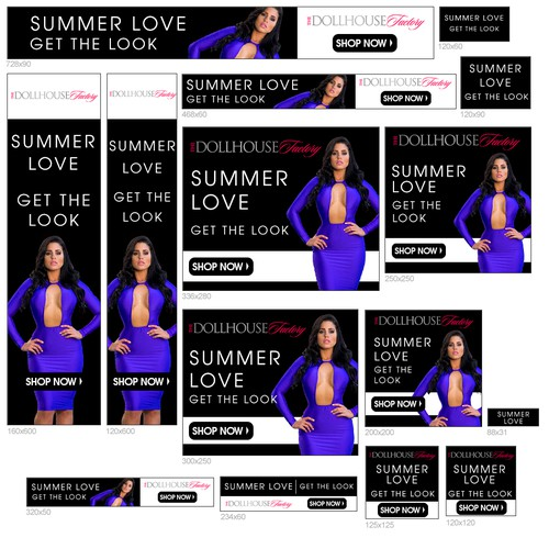 Banner Ad Design - adwords banner pack for sexy women fashion E-Commerce
