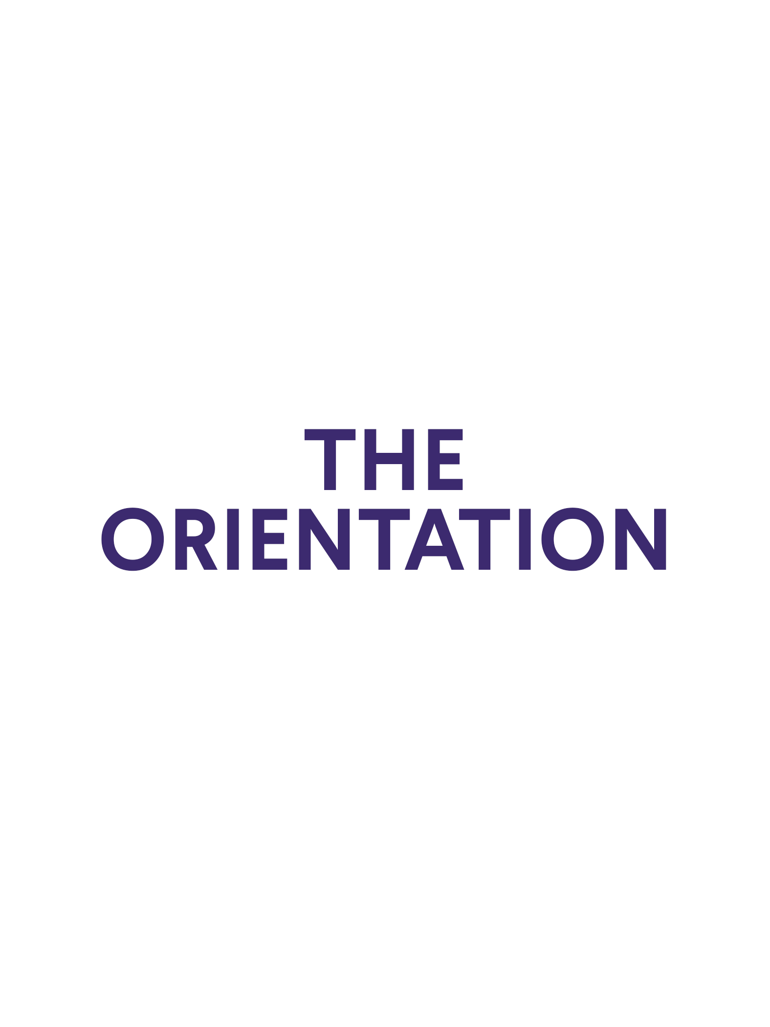 "Resize ""The Orientation"" title to specfications"