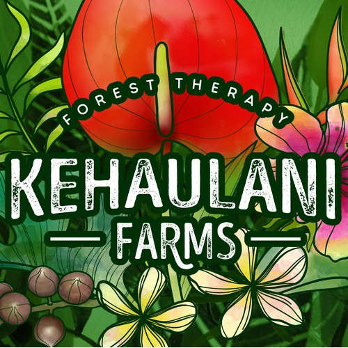 Web Graphic for Kehaulani Farms.