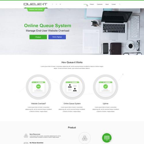 Queue.It Web Design
