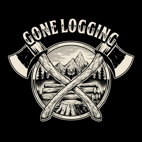 Gone Logging Logo
