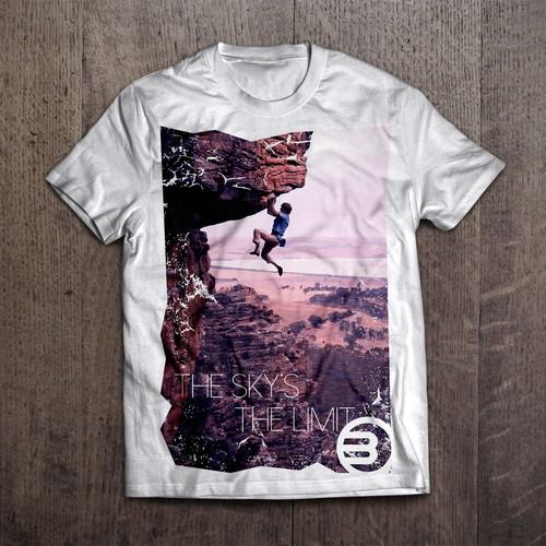T-Shirt design for climbing gym