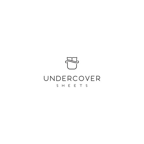 Simple logo for a bed sheets startup