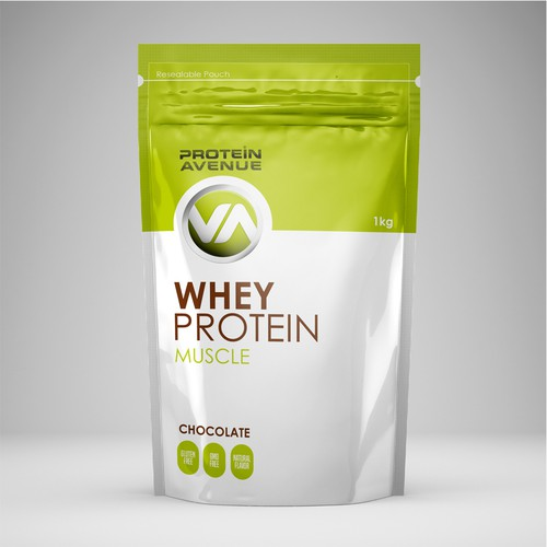 Packaging for whey protein