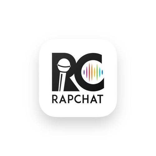 icon design concept for rapchat