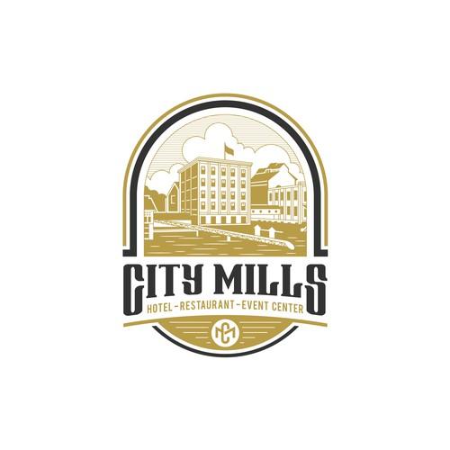 City Mills Logo Sign