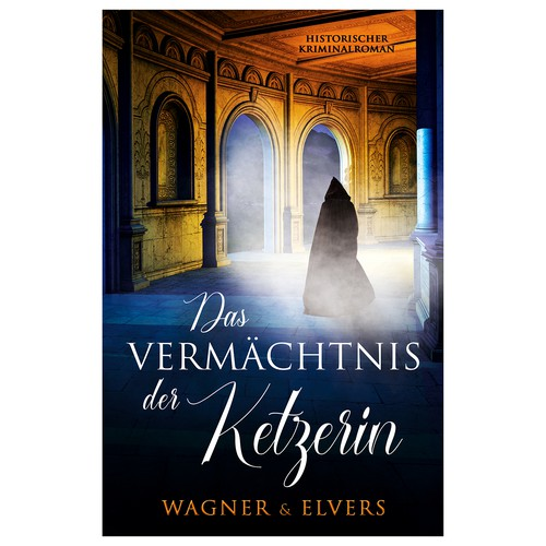 "Book cover for ""Das Vermächtnis der Ketzerin"""