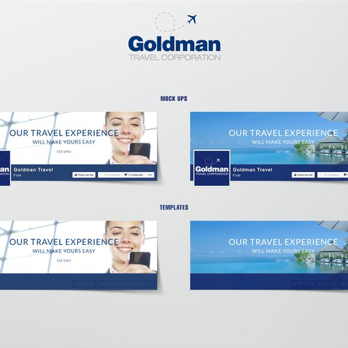 Create a Facebook cover for Goldman Travel Facebook page