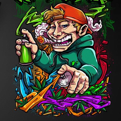 Marijuana Graffiti Design For SALE!