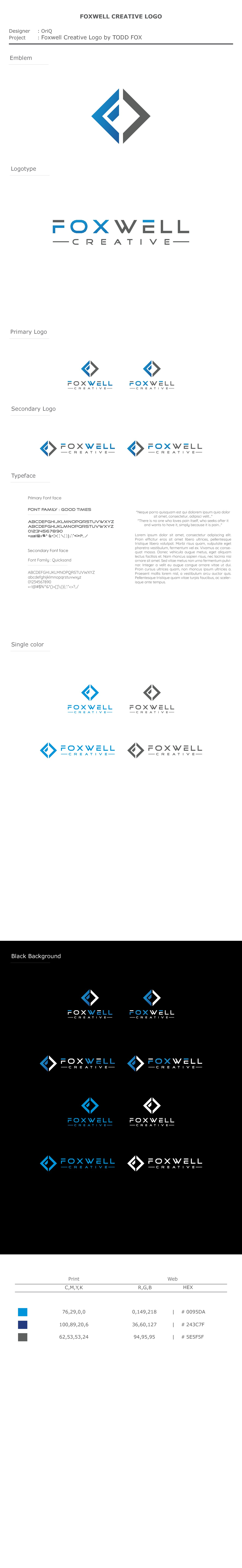 Create a Unique and Thoughtful Logo for FoxwellCreative