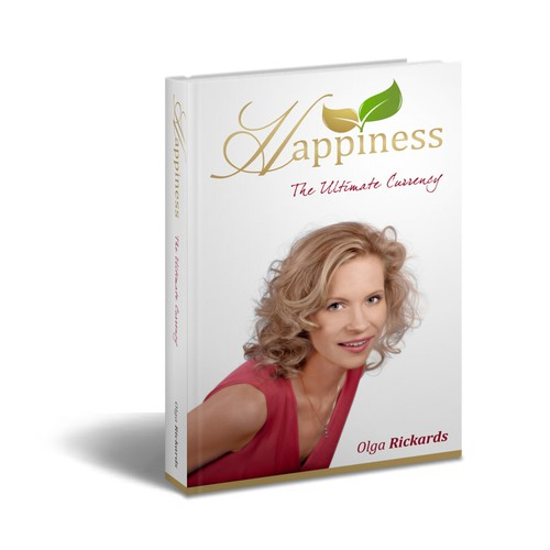 """Happiness - The Ultimate Currency"" hardcover book cover design"