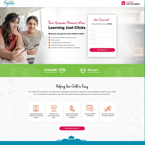 Landing Page for Home Tutoring