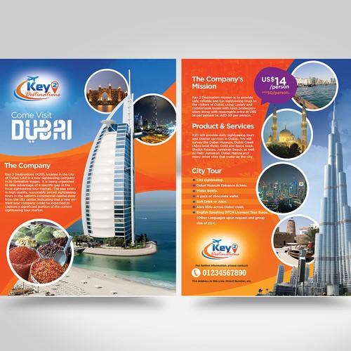 Dubai city tour promotion brochure