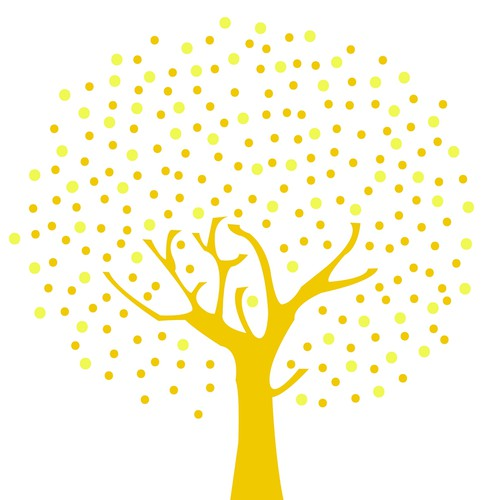 Logo and tree illustration for Lightmakers: a website for those with a social conscience