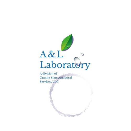 Logo concept for a laboratory testing drinking water