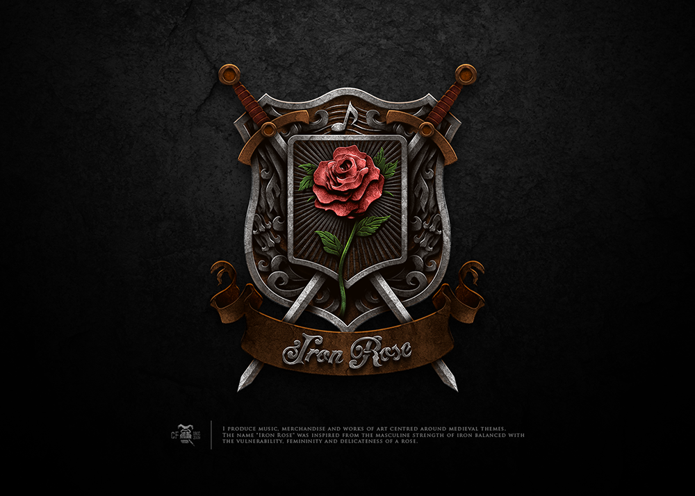 """Create an awesome logo for """"Iron Rose"""" classical singer"""