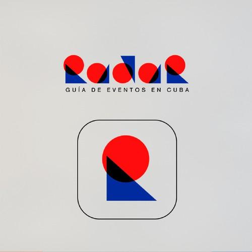 Logo design for the digital event guide in Cuba Radar.