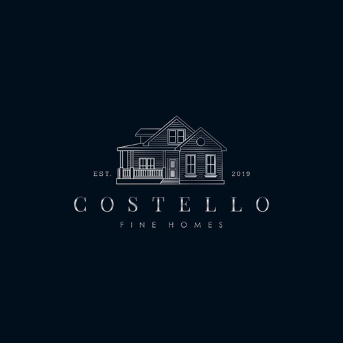 Build a logo for a high end builder, and help to build Costello Fine Homes