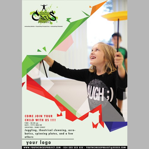youth circus project poster
