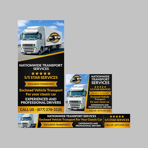 Banner Ad for nationwide Transport Services
