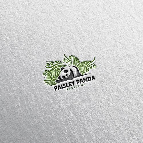 Panda logo for marketing company