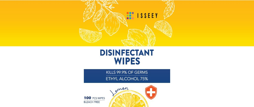 """Product Label Design for """"Disinfectant Wipes"""""""