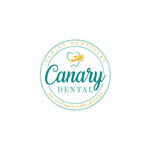 Modern Logo with Vintage twist for a Canary Dental