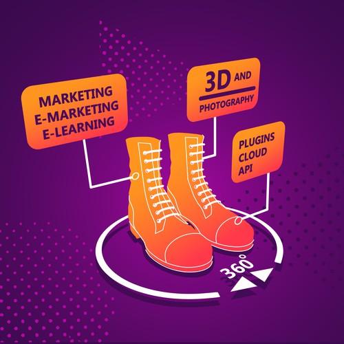 E-marketing illustration concept