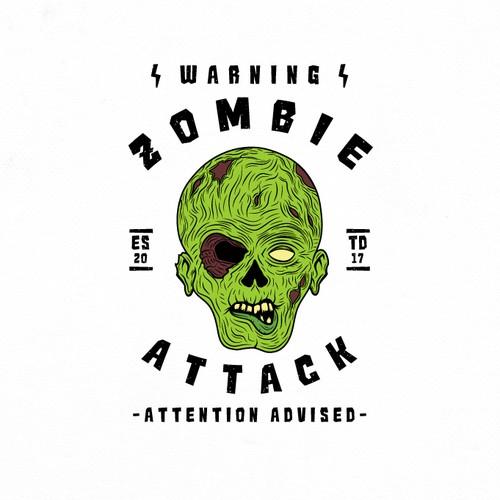 Zombie t-shirt design.