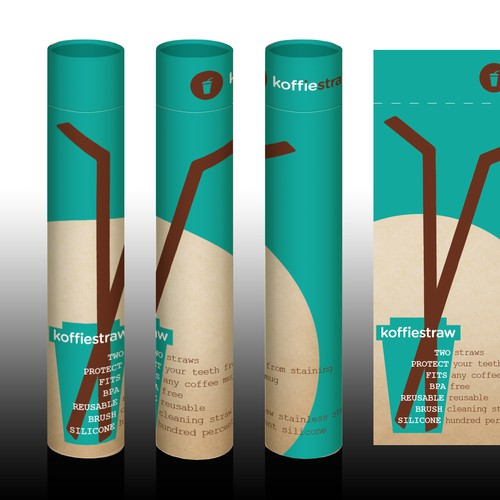 bold coffee straw simple & eye catching