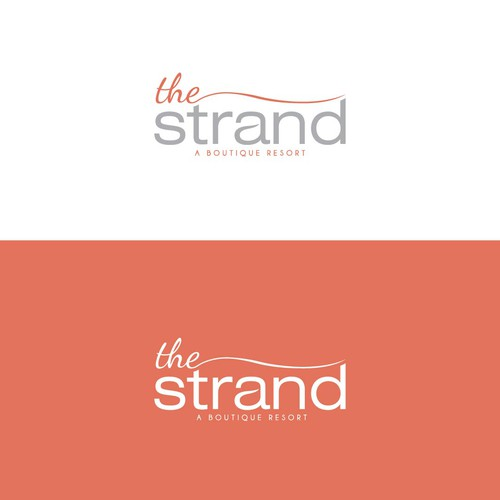 Create a logo design for The Strand, A Boutique Resort