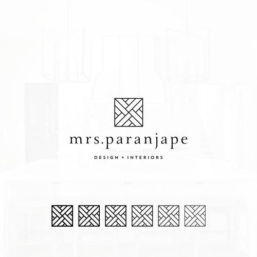 Logo design for an interior designer.