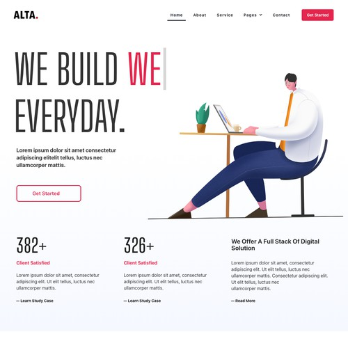 Creative Agency Web Interface Design