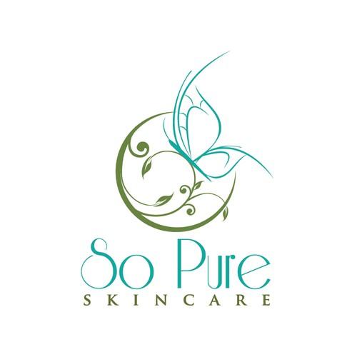 skincare - elegant butterfly logo