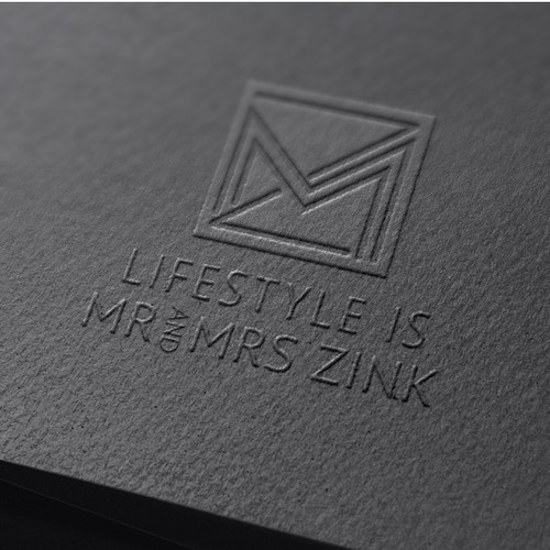 Logo and brand identity for lifestyle consultants | Mr & Mrs Zink