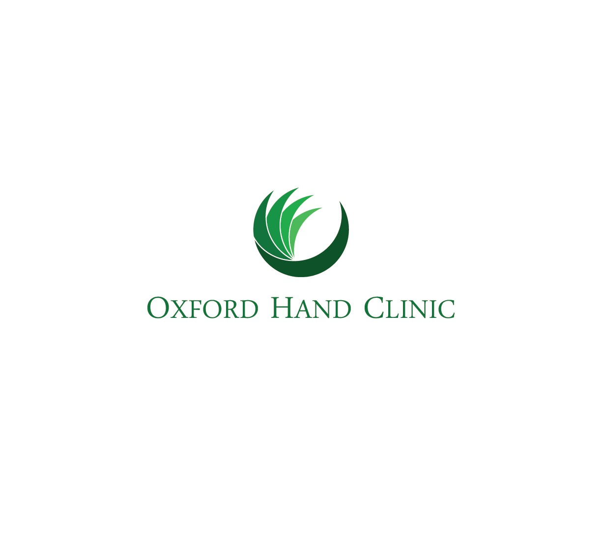 Create a logo for a new hand therapy clinic located in a thriving college town