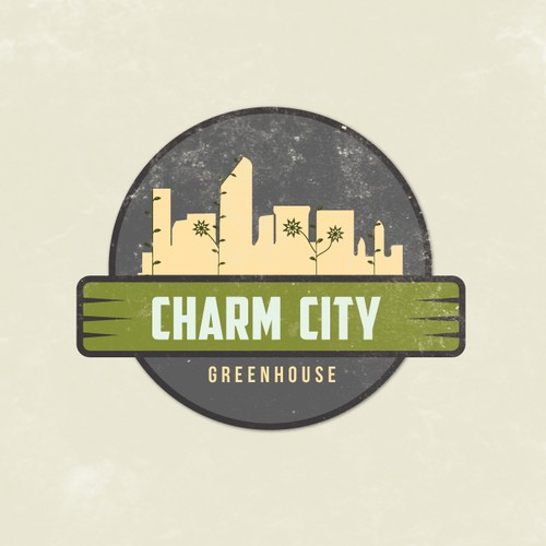 Create a vintage design for Charm City Greenhouse
