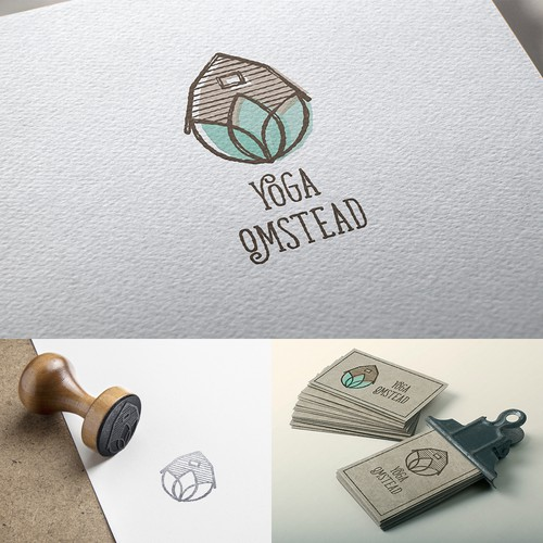 """Homestead"" inspired logo for Yoga OmStead"
