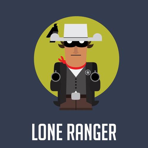 Lone Ranger character for mobile app