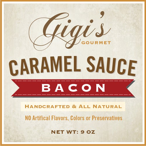 Product label and logo for Gigi's Gourmet