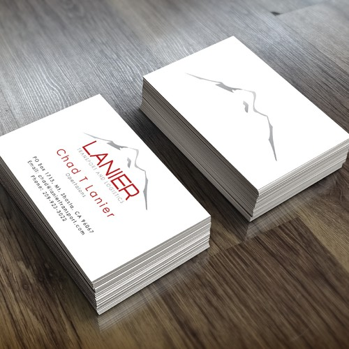 Business card design for lanier