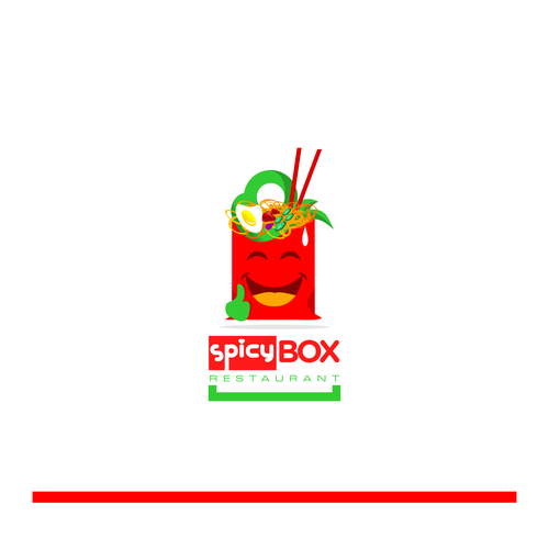Happy & fun logo for a Chinese takeout kitchen