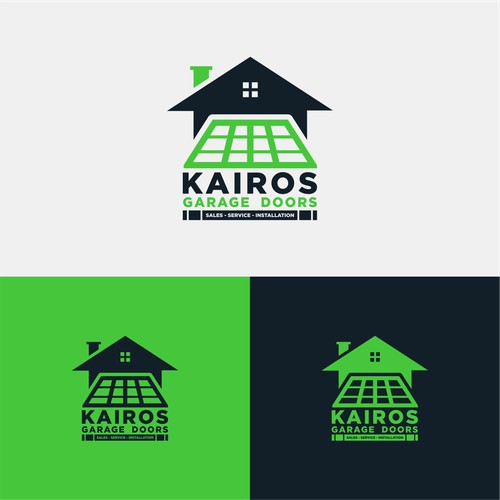 Garage Doors Logo Design Concept