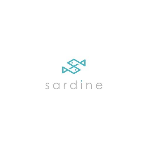 """line-logo for """"sardine"""""""