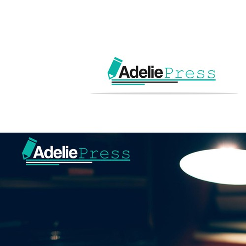 create a stunning logo for a new publishing company Adelie Press
