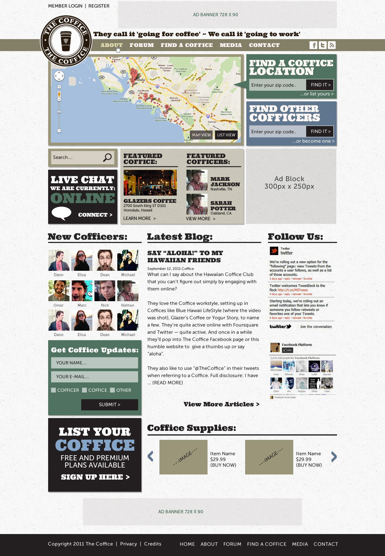 Create the next website design for The Coffice